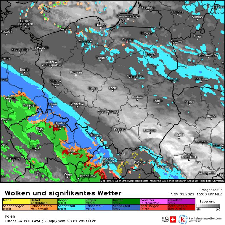 Śnieżyca w piątek nad Polską