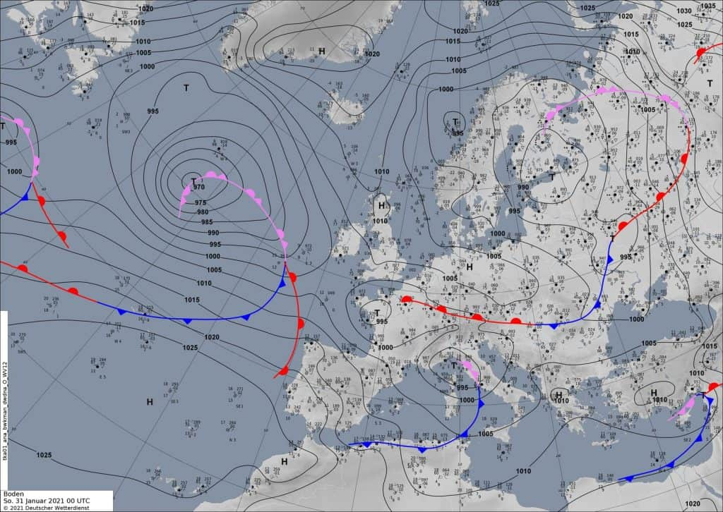 Fronty przynoszą śnieg w Europie