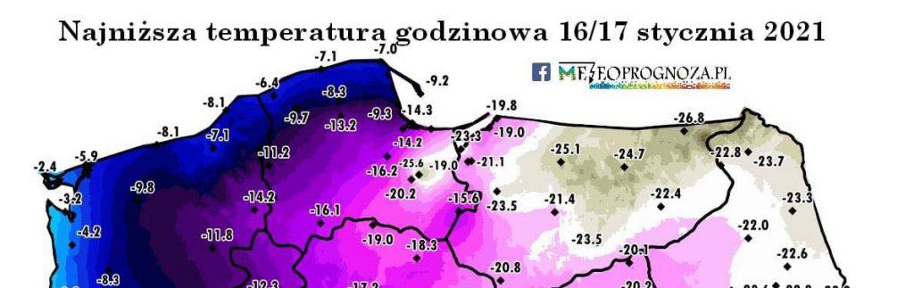 Największy mróz w Polsce