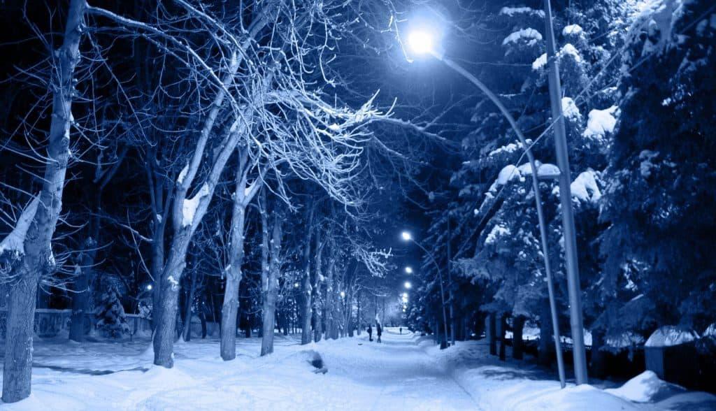 Mróz w nocy w Polsce