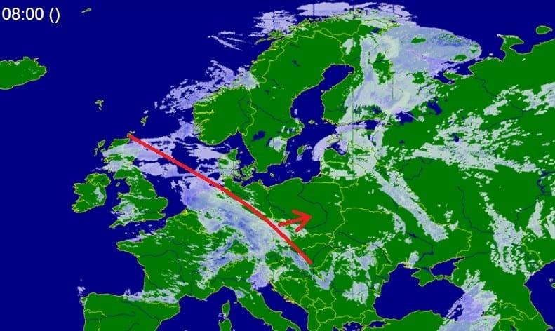 Silne opady zbliżają się do Polski