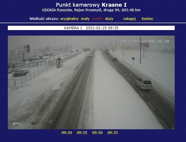 Śnieżyca w Rzeszowie
