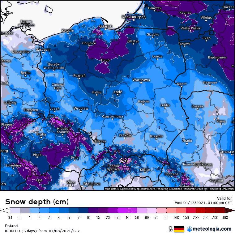 Pogoda długoterminowa.  Dwucyfrowy mróz w Polsce. Dopada śniegu, możliwe burze