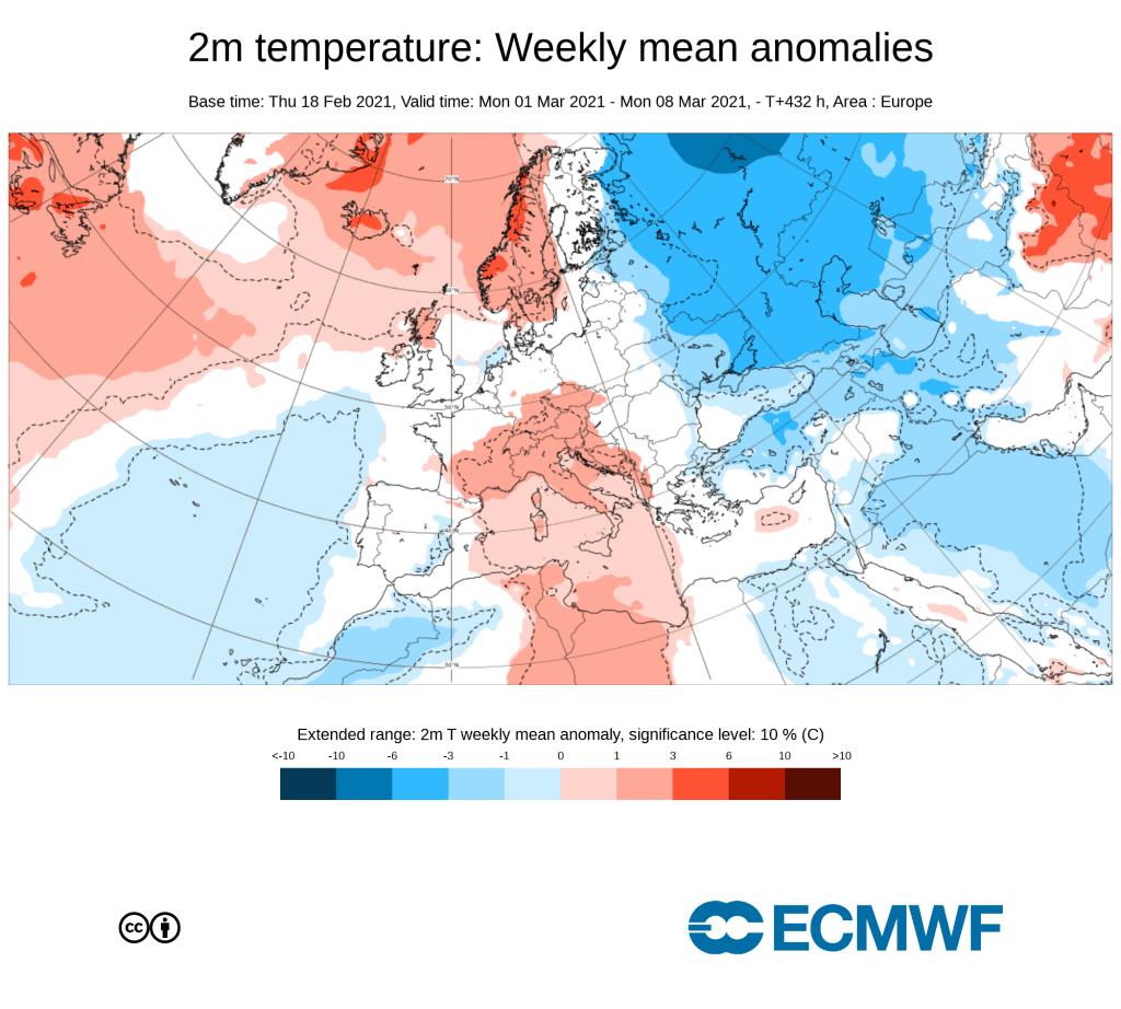 Możliwy trend w pogodzie na początku marca
