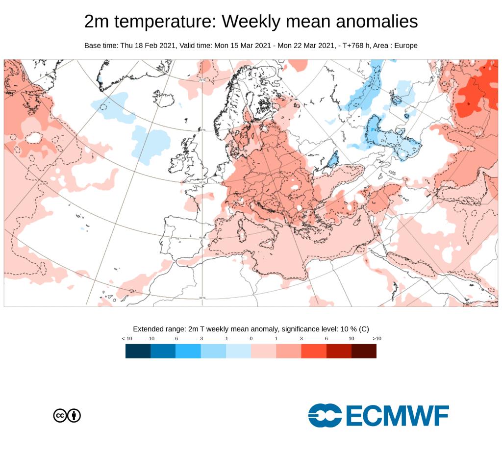 Pogoda w połowie marca 2021 Polska i Europa