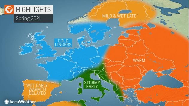 Pogoda długoterminowa na wiosnę 2021