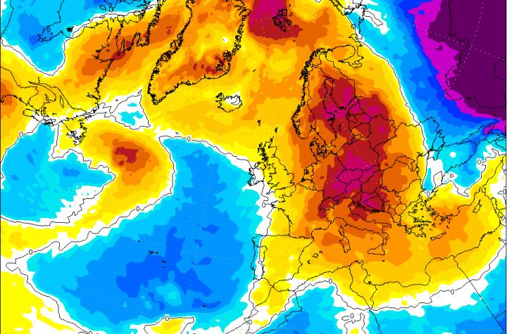 Prognoza GFS, ocieplenie