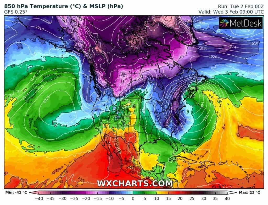 Głęboki niż. Atak zimy w USA