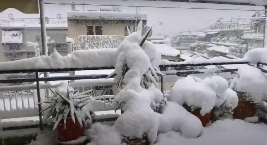 Silna śnieżyca w Grecji luty 2021