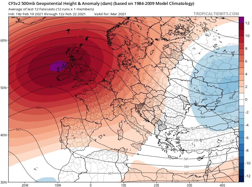 Pogoda długoterminowa. Dominacja wyżowej pogody według CFS.