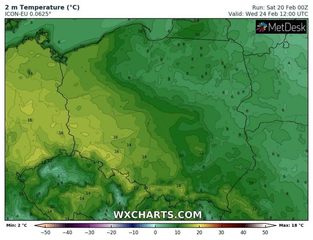 Wysokie temperatury przyszły tydzień. Wiosenne ciepło nad Polską