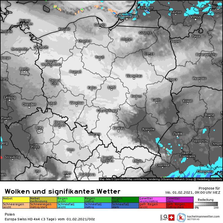 Opady w Polsce 01.02