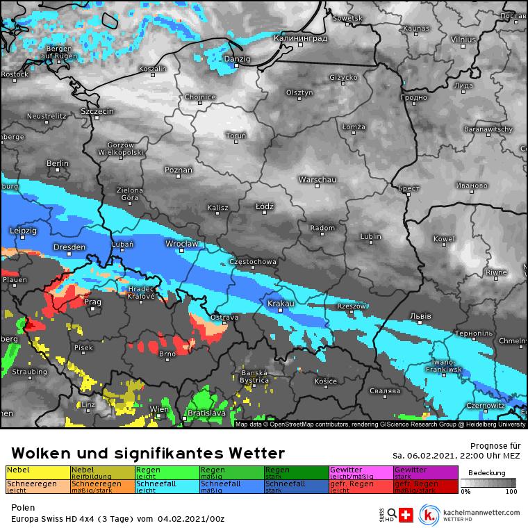 Opady śniegu w Polsce w weekend