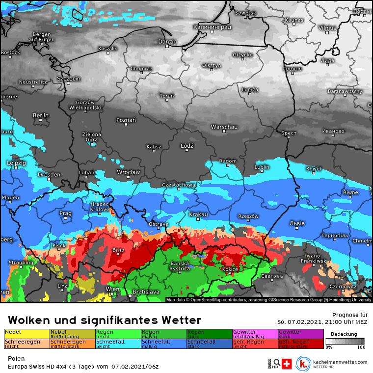 Śnieżyca w nocy nad Polską