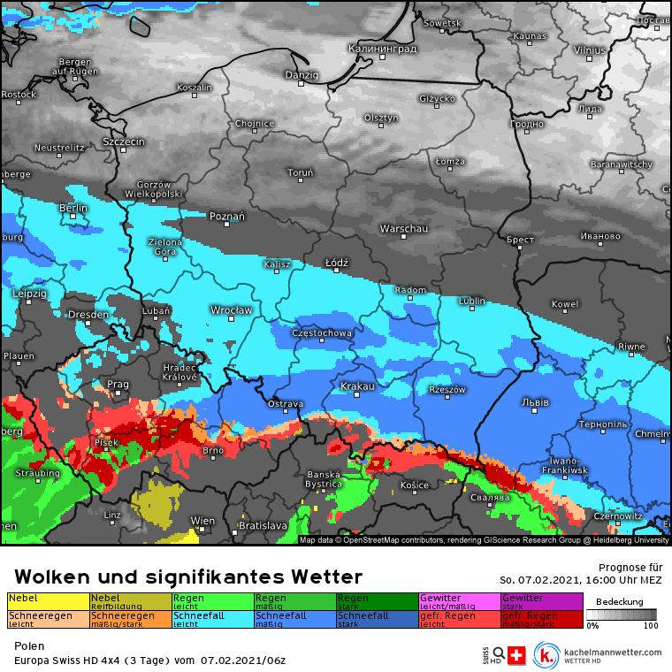 Silna śnieżyca w Polsce