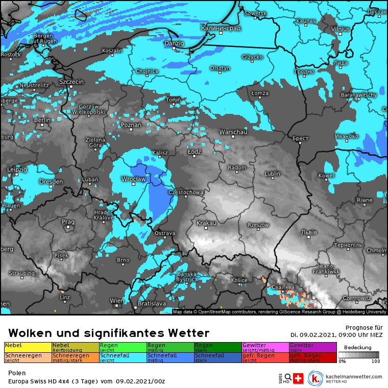 Opady w Polsce 09.02