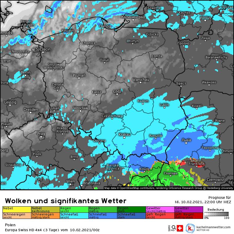 Śnieżyca w czwartek w Polsce