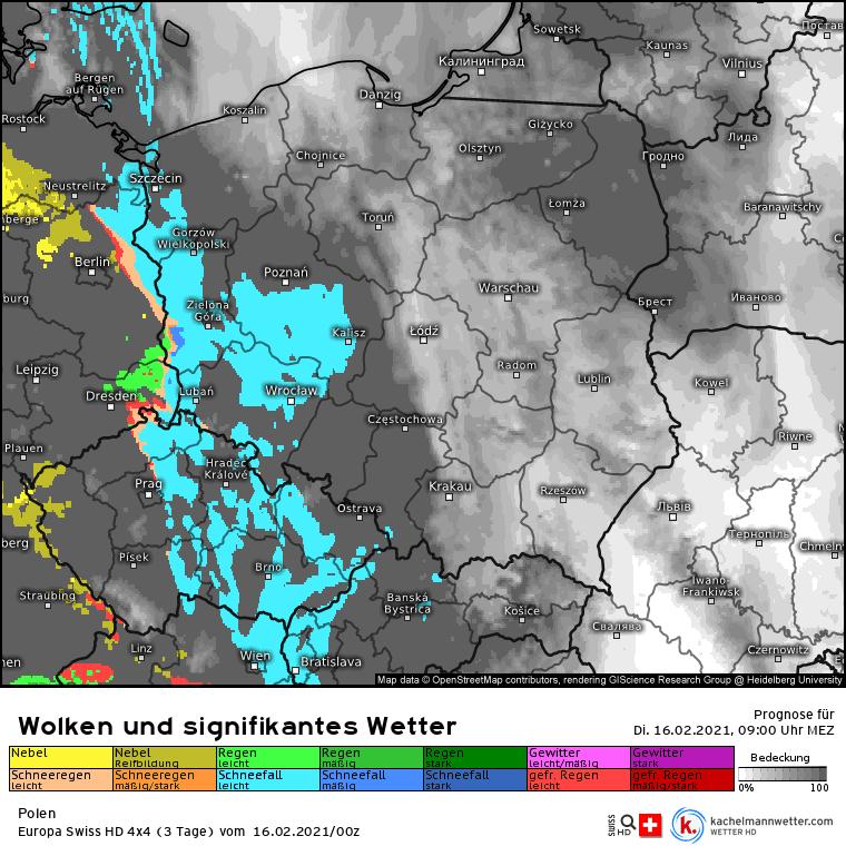 Opady atmosferyczne nad Polską