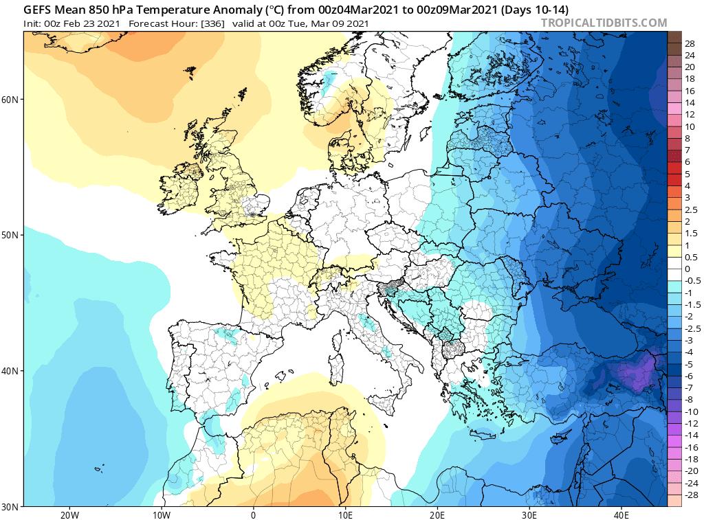 Pogoda długoterminowa. Możliwe chłodne okresy, marzec 2021