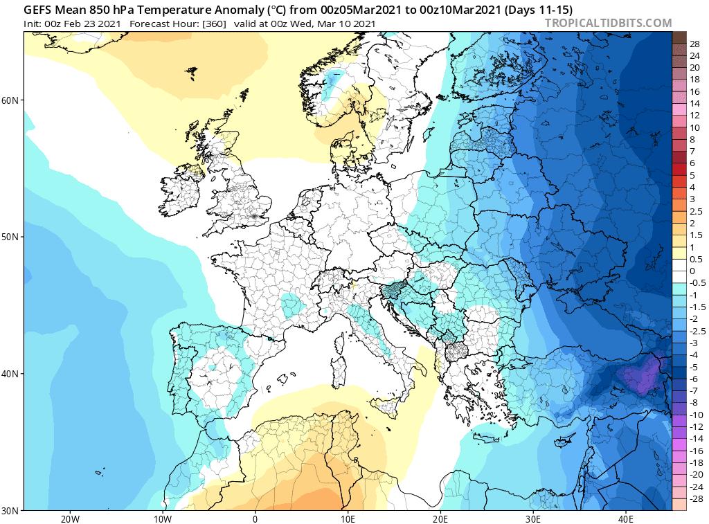 Pogoda długoterminowa. Możliwe zimowe ochłodzenia, marzec 2021
