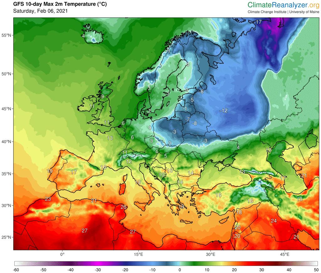 Dodatnia temperatura w Polsce