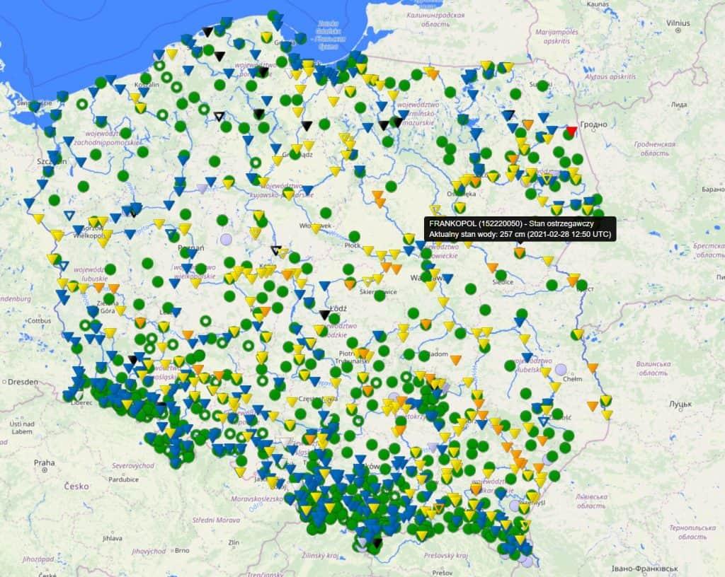 Odwilż w Polsce. Sytuacja hydrologiczna. Stany ostrzegawcze na wielu rzekach w Polsce