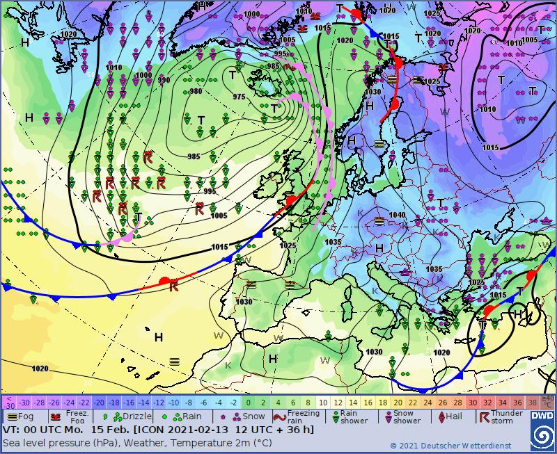 Pogoda na noc 14/15 lutego 2021. Śnieg w wielu miejscach i dwucyfrowy mróz w Polsce