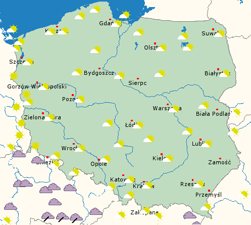 Wysoka temperatura w Polsce i pogodnie
