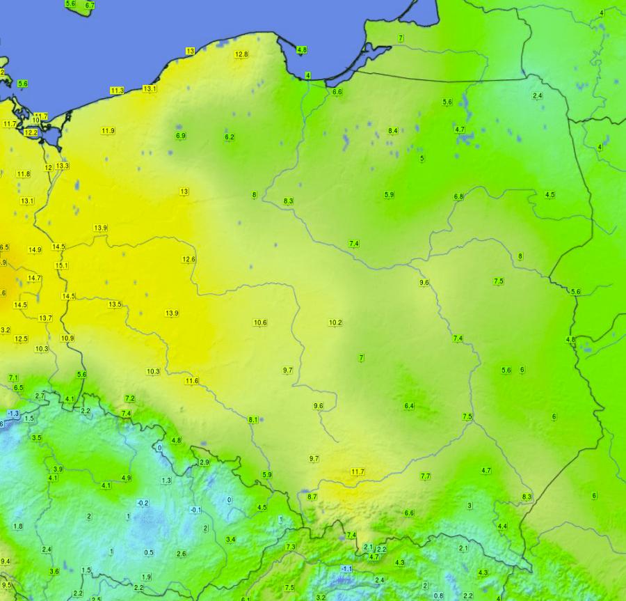 Pogoda. Wysoka temperatura w Polsce.