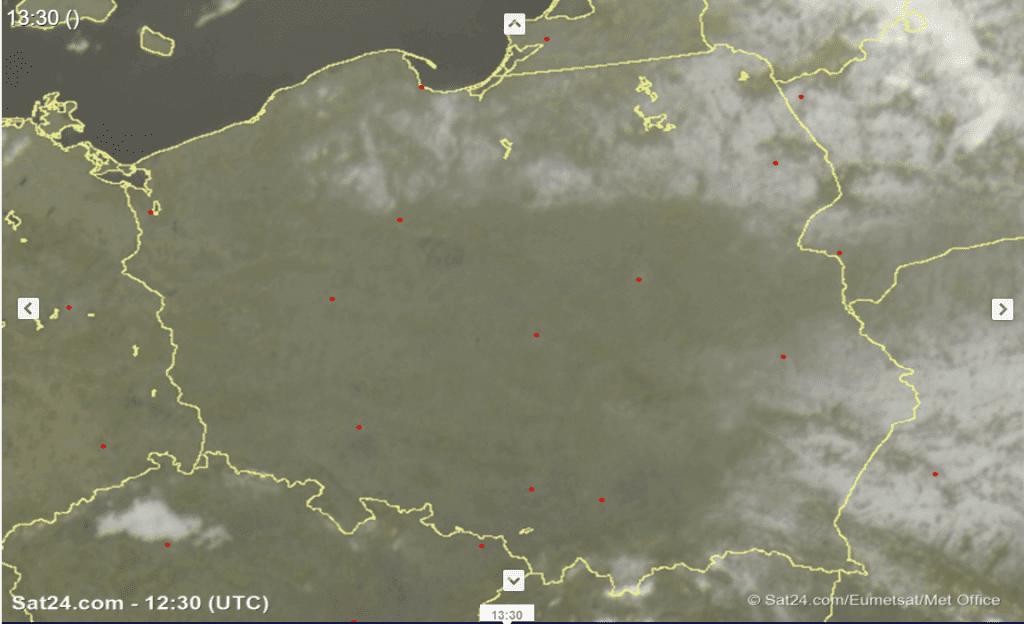 Pył saharyjski nad Polską i resztki śniegu.