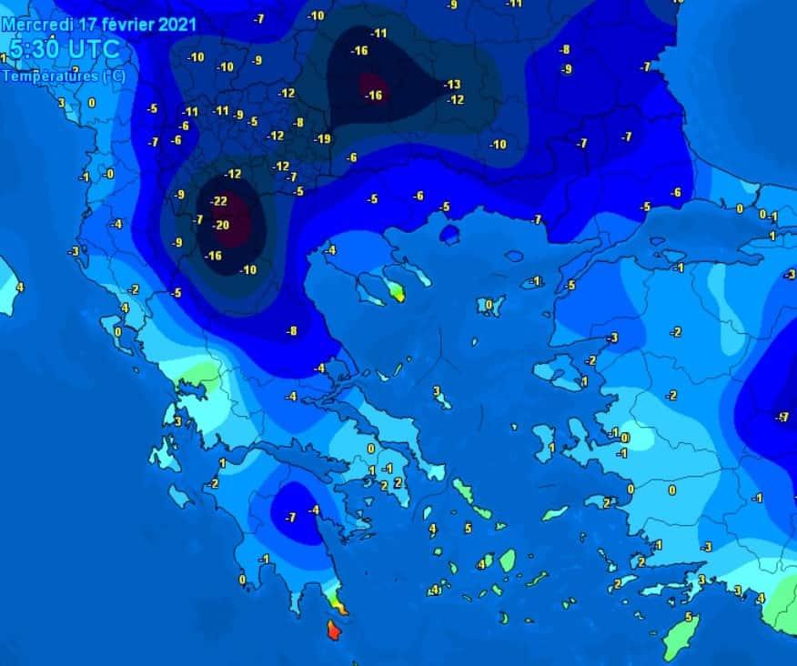 Mróz Grecja 17 lutego 2021