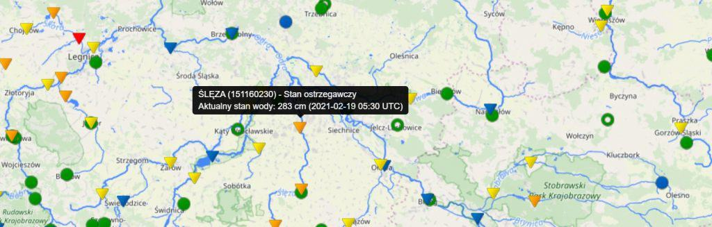Odwilż. Stany alarmowe i ostrzegawcze na rzekach w Polsce