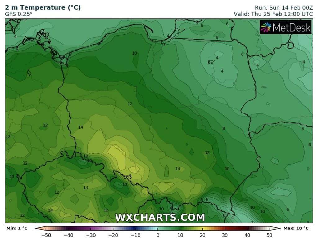 Silna odwilż w Polsce