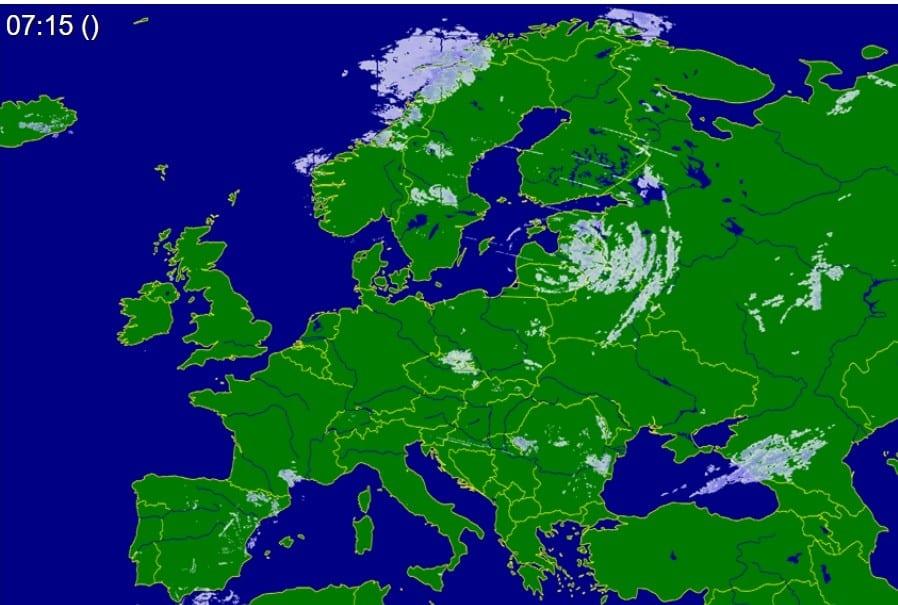 Mało opadów nad Europą