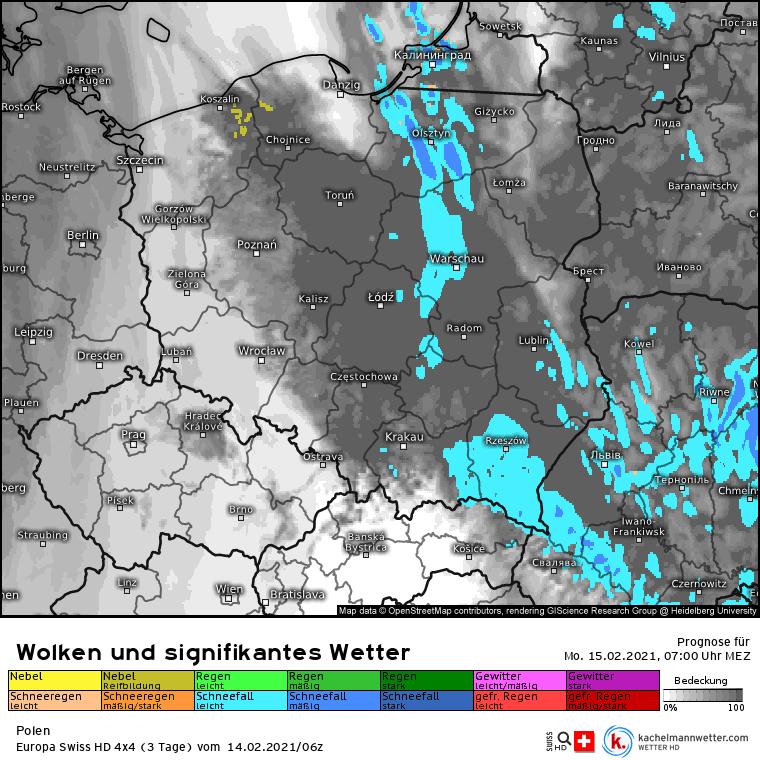 Opady śniegu w Polsce 15 lutego