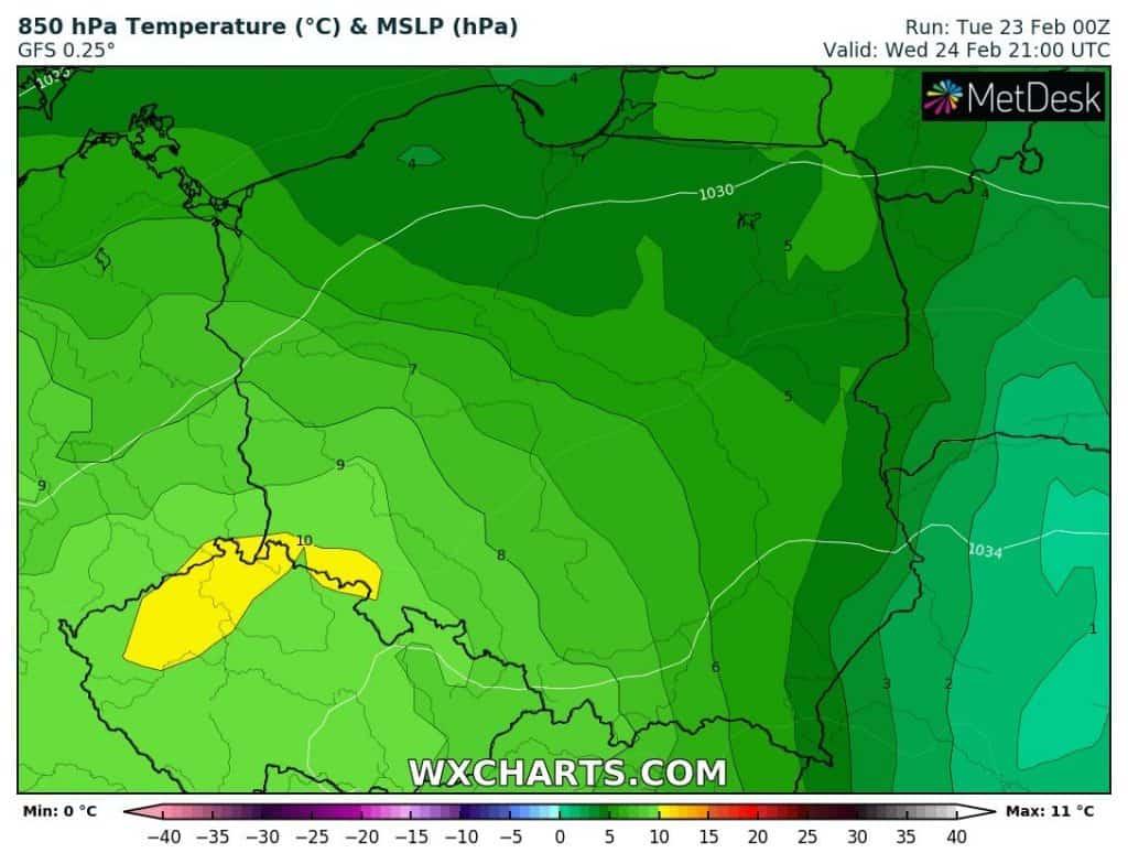 Pogoda na dziś. Bardzo ciepło w Polsce 24 lutego 2021