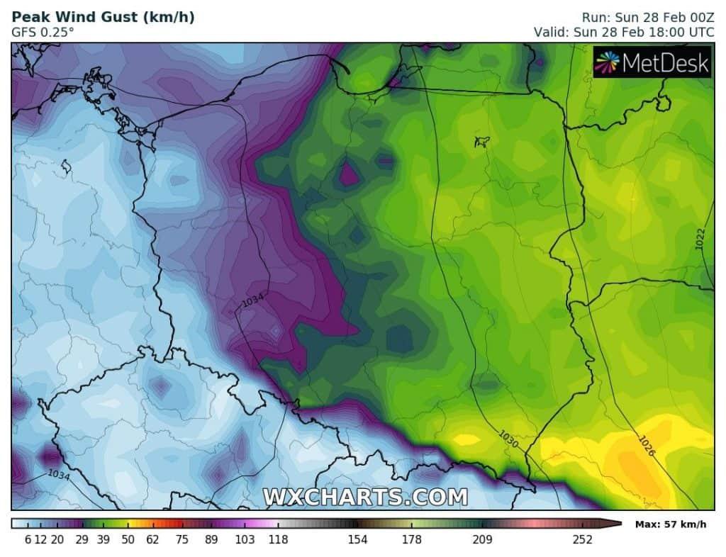 Pogoda w Polsce na dzień 28 lutego 2021