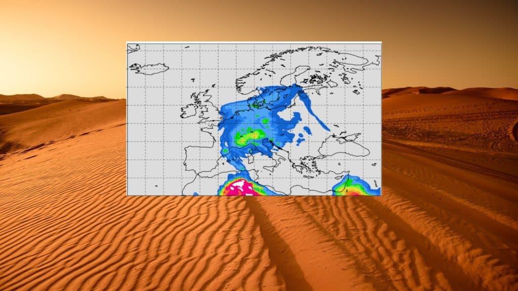 Pył Saharyjski w Europie pod koniec lutego