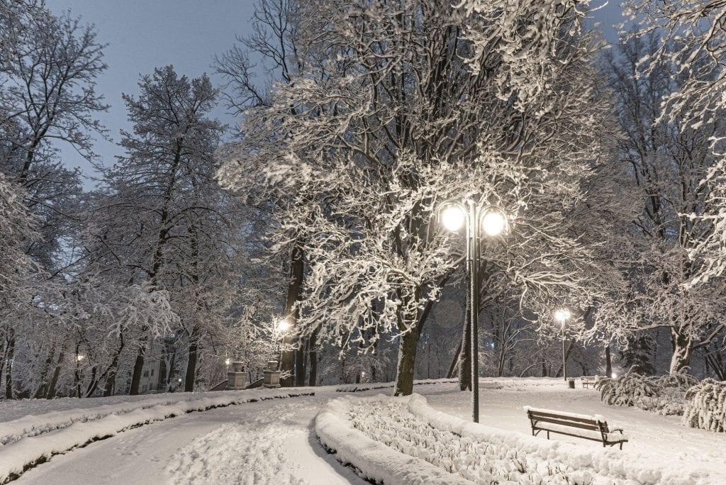 Silny atak zimy. Śnieżyca nad Moskwą