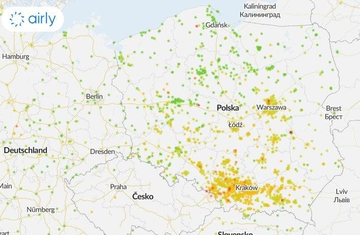 Wysokie ciśnienie przynosi zanieczyszczenie powietrza. Smog w Polsce