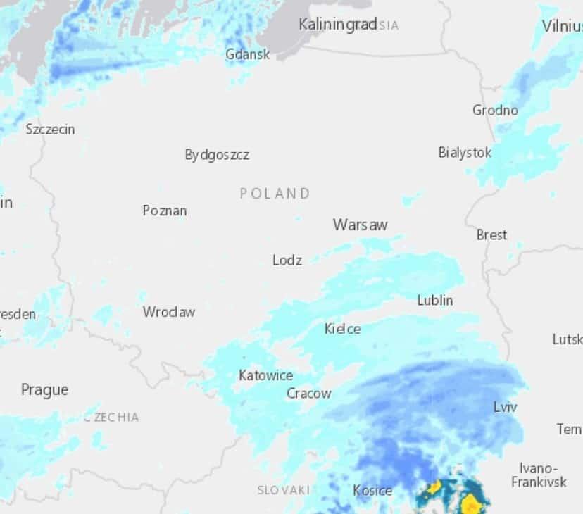 Śnieżyca nad Polską