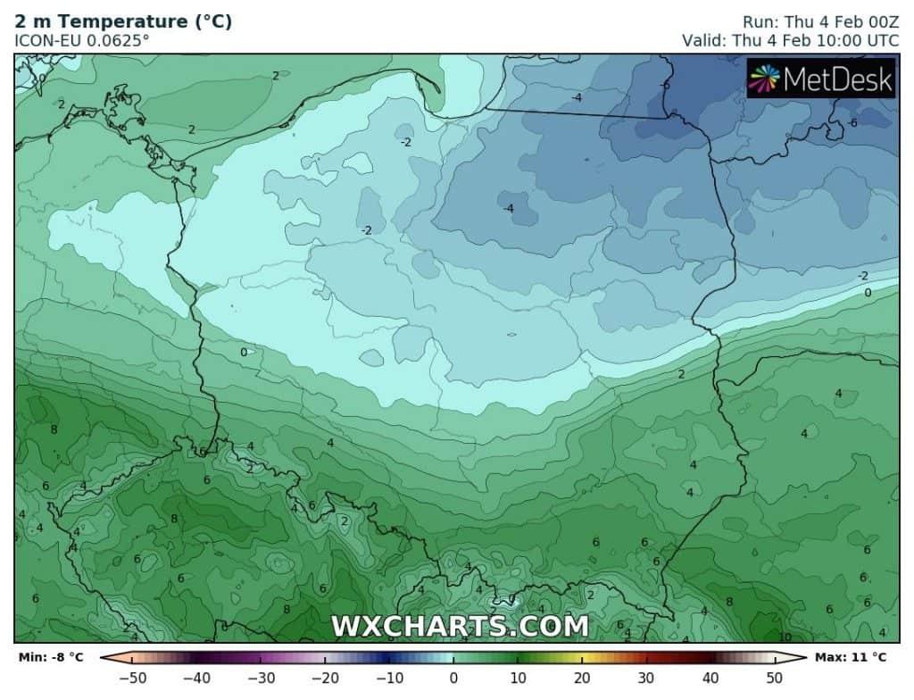 Temperatura w czwartek w Polsce