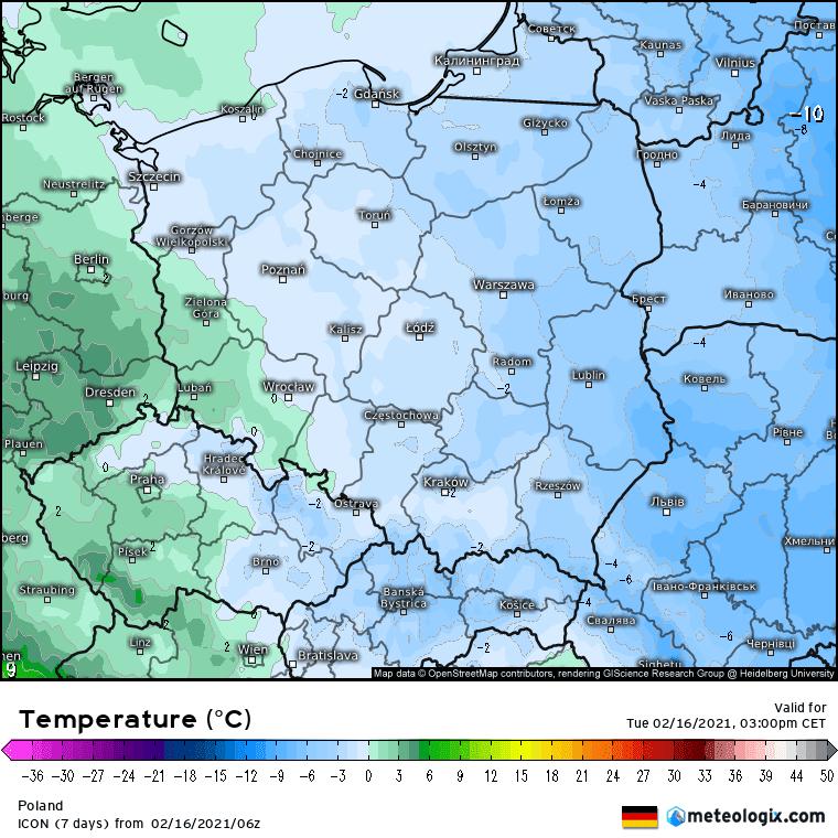 Pogoda. Model ICON i prognoza odwilży