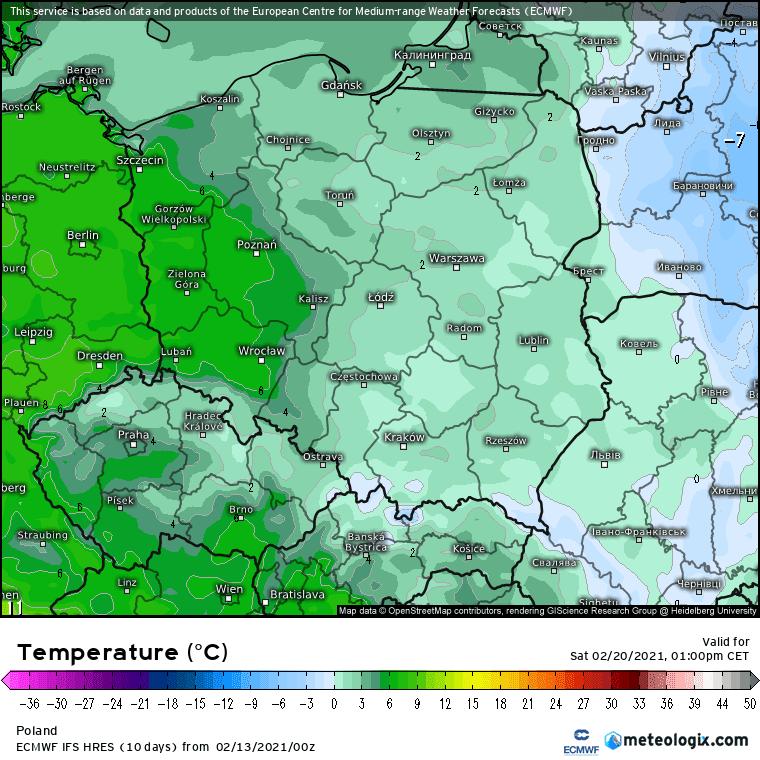 Odwilż w Polsce, 20 lutego 2021.