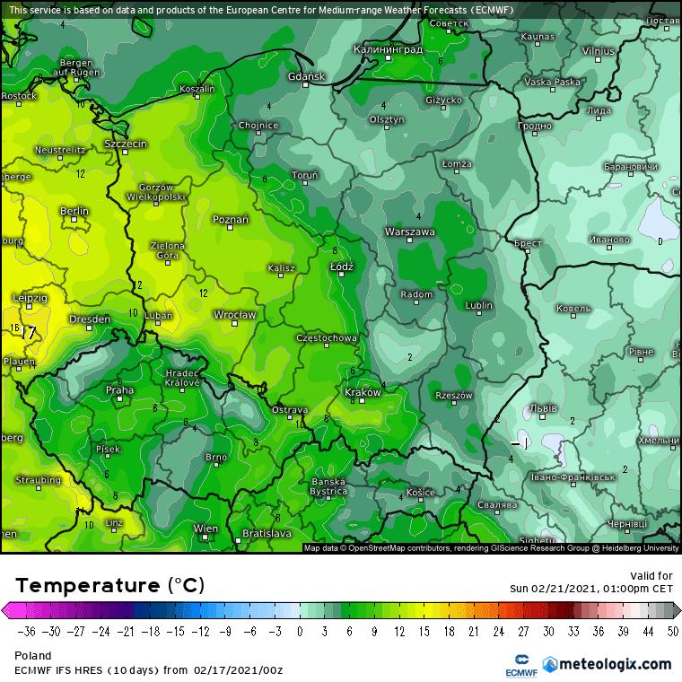 Pogoda. Odwilż w Polsce