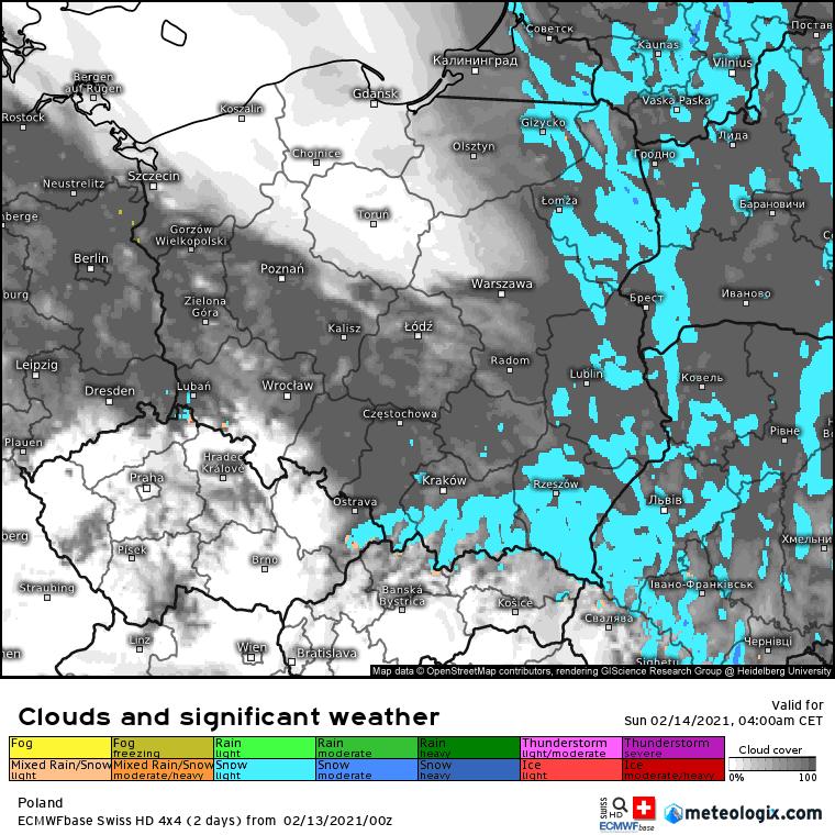 Zimowe opady Polska