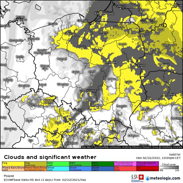 Pogoda. Mgły w Polsce