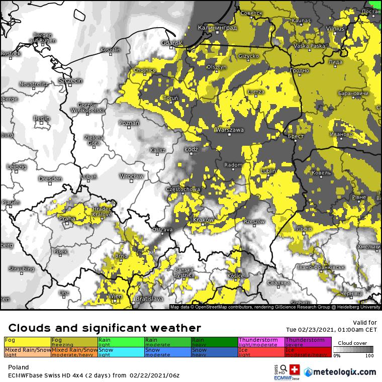 Pogoda. Mgły w naszej części Europy