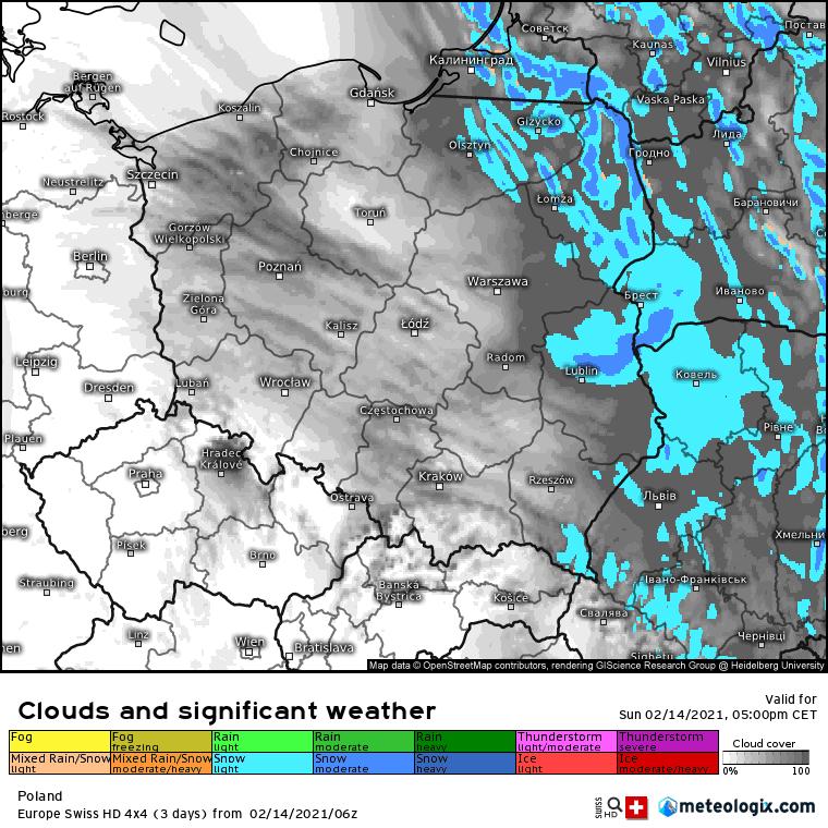 14/15 lutego 2021. Opady śniegu w Polsce
