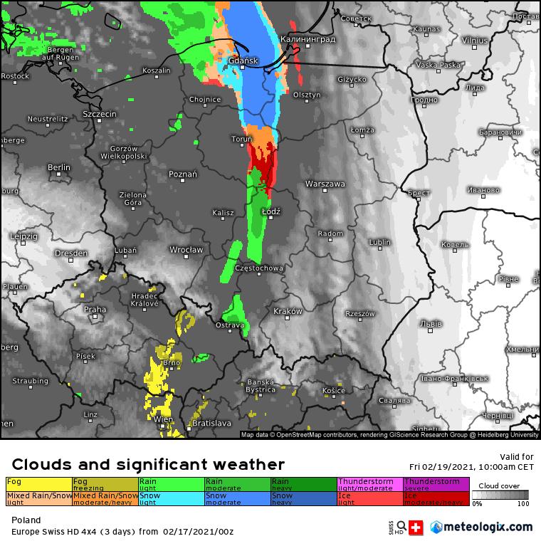Opady marznące w piątek nad Polską